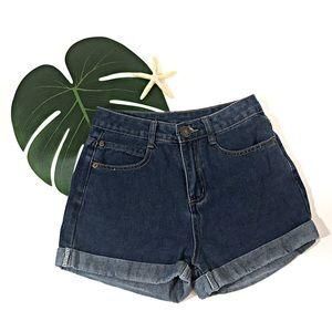 Pants - Denim High Waisted Shorts Size 26